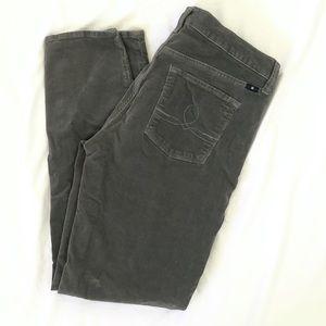 Lucky brand Sophia skinny gray cords jeans 10/30